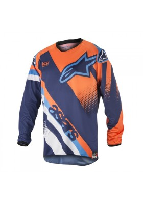 ALPINES. RACER SUPERMATIC JERSEY 7049 BLUE ORANGE