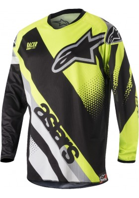 ALPINES. RACER SUPERMATIC JERSEY 1511 BLACK YELLOW