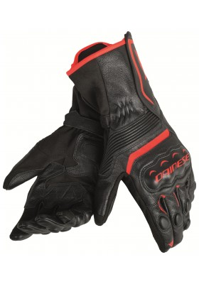 ASSEN GLOVES P75 BLACK RED-FLUO
