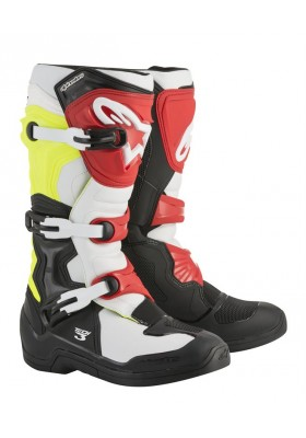 ALPINES. TECH 3 BLACK WHITE YELLOW RED (1053)