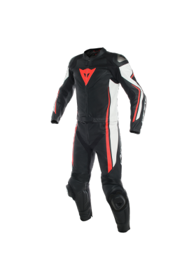 ASSEN 2 PCS SUIT N32 BLACK WHITE FLUO-RED