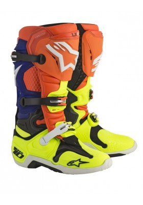 ALPINES. TECH 10 ORANGE BLUE WHITE YELLOW (475)