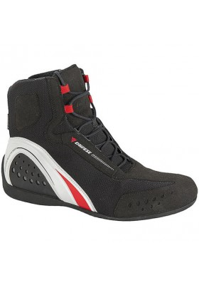 SCARPA MOTORSHOE JB AIR 858 SHOES BLACK WHITE RED