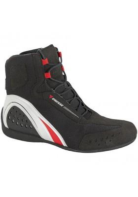 SCARPA MOTORSHOE JB AIR 858 SHOES BLACK WHITE RED