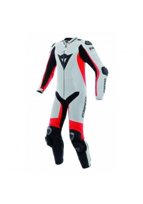 D-AIR RACING MISANO 1PC SUIT U25 WHITE RED BLACK