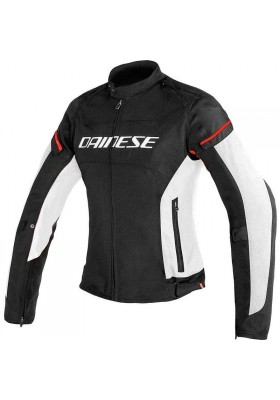 D-FRAME LADY TEX JACKET 858 BLACK WHITE RED