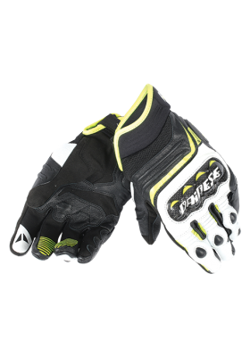 CARBON D1 SHORT GLOVES V79 BLACK YELLOW FLUO