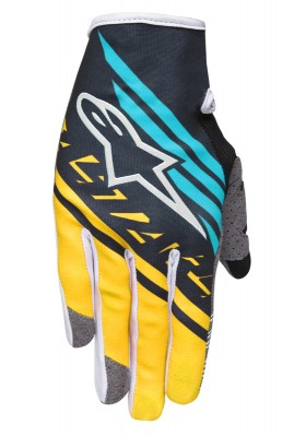 RACER SUPERMATIC GLOVES 180 NERO GIALLO TEAL