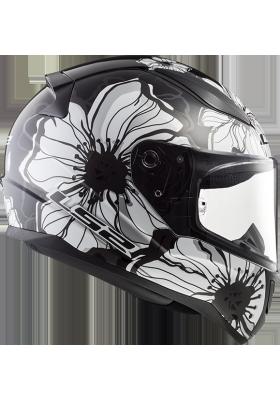 FF353 RAPID POPPIES BLACK WHITE