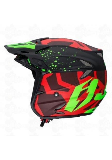 Jitsie Ht2 Kroko Helmet Red Fluo Green Dainese Pro Shop