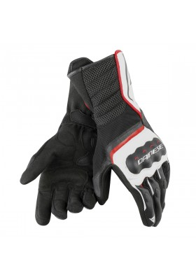 AIR FAST UNISEX GLOVES A66 BLACK WHITE RED-LAVA