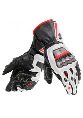 PELLE FULL METAL 6 GLOVES A66 BLACK WHITE LAVA-RED
