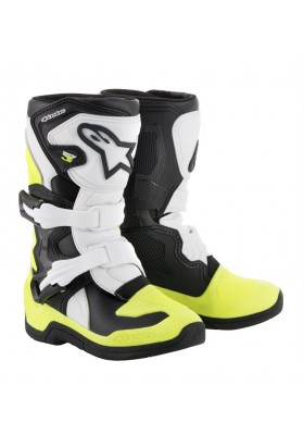 ALPINES. TECH 3S KIDS (125) BLACK WHITE YELLOW