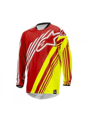 ALPINES. RACER SUPERMATIC JERSEY 2015 RED FLUO 352