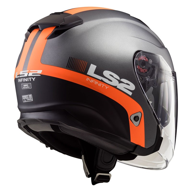 of521 infinity smart matt titanium orange jet helmet dainese pro shop sembenini riva del garda. Black Bedroom Furniture Sets. Home Design Ideas