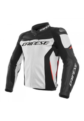 RACING 3 LEATHER JACKET 777 WHITE BLACK RED