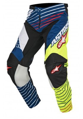ALPINES. RACER BRAAP PANT 527 YELLOW FLUO BLUE 3721417