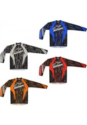 ALPINES. YOUTH RACER JERSEY 107 GRAY BLACK