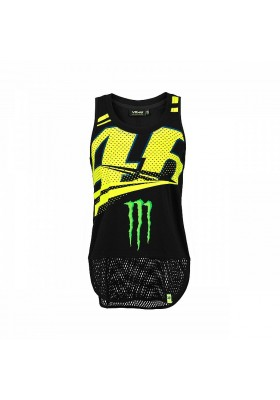 MOWTT316504 TANK TOP WOMAN VR46 MONSTER BLACK