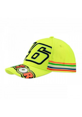 VRKCA307728 CAP KID VR46 STRIPES