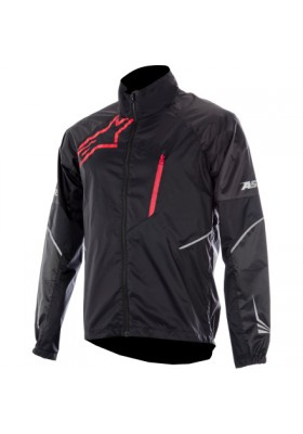 SIROCCO RAIN JACKET BLACK RED