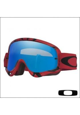 OAKL NEW O-FRAME INTIMIDATOR RED BLACK IRID+CLEAR (7129-09)
