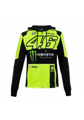 MOMFL316128 FLEECE HOODIE MAN VR46 YELLOW BLACK