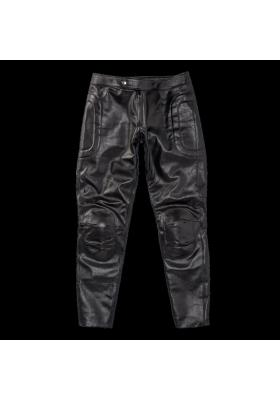 PIEGA72 LEATHER PANTS BLACK