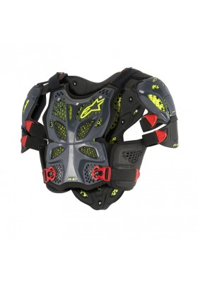 A-10 FULL CHEST PROTECTOR 1431 ANTRACITE BLACK RED