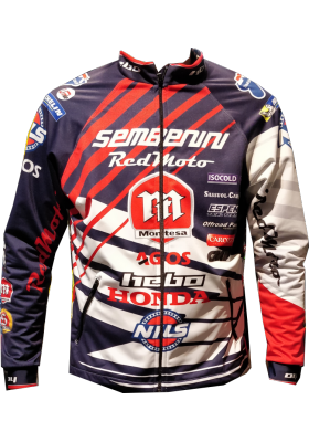 CHAQUETA ELASTICA TEAM MONTESA SEMBENINI 2018 BLUE RED