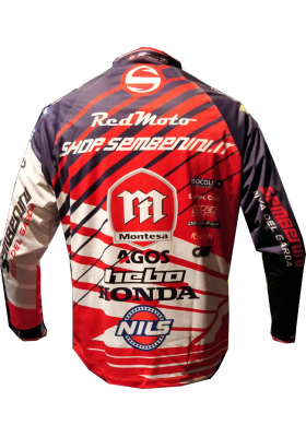 CHAQUETA WIND-PRO TEAM MONTESA SEMBENINI 2018 BLUE RED
