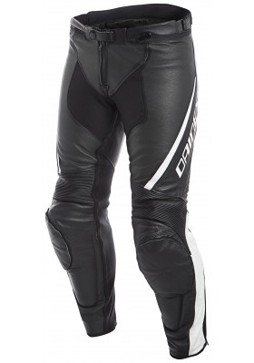 ASSEN PERF. LEATHER PANTS 622 BLACK WHITE