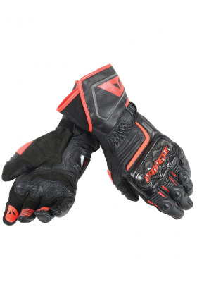 CARBON D1 LONG GLOVES P75 BLACK FLUO-RED