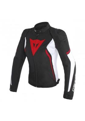 AVRO D2 TEX LADY JACKET 858 BLACK WHITE RED