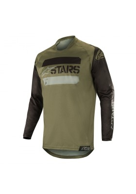 ALPINES. RACER TACTICAL JERSEY 1608 BLACK MIL GREEN