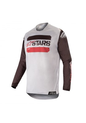 ALPINES. RACER TACTICAL JERSEY 1138 BLACK GRAY BURGUND