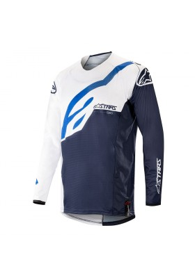ALPINES. TECHSTAR FACTORY JERSEY 270 WHITE DARK NAVY