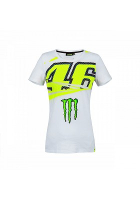 MOWTS316406 T-SHIRT WOMAN WHITE VR46
