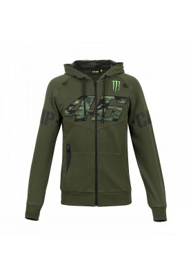 MOMFL317608 FLEECE HOODIE MAN VR46 MONSTER CAMP