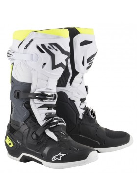 ALPINES. TECH 10 BLACK WHITE YELLOW (125)