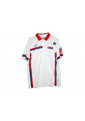 POLO HRC HONDA FOX WHITE (08FOX-POL)