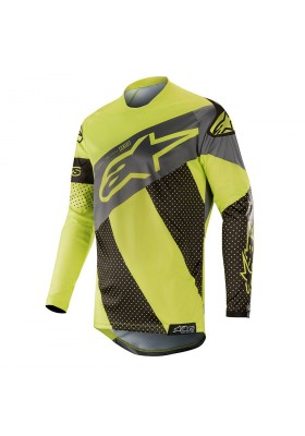 ALPINES. RACER TECH ATOMIC JERSEY 1511 BLACK YELLOW FLUO