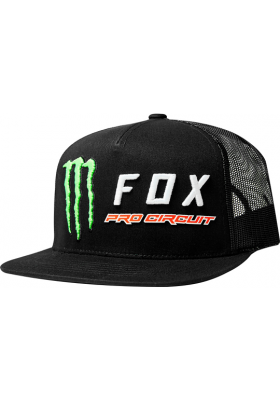 CAP FOX MONSTER PC SNAPBACK HAT MAN BLACK (24411-001)