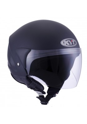 KYT JET HELMET COUGAR PLAIN MATT BLACK