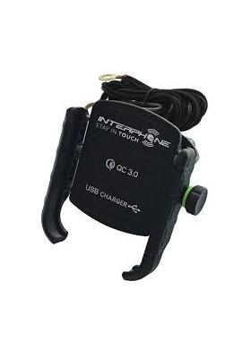 SMMOTOCRABUSB SUPPORTO MANUBRIO CRAB UNIVERSAL CON USB 3.0