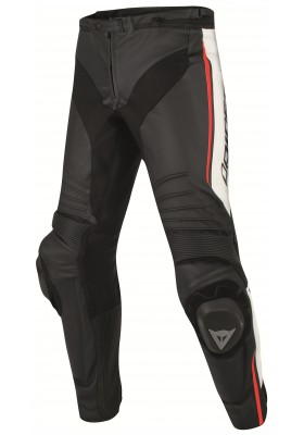 MISANO PERF. LEATHER PANTS N32 BLACK WHITE RED