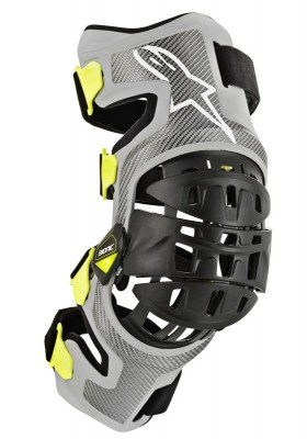 BIONIC-7 KNEE BRACE SET SILVER YELLOW FLUO