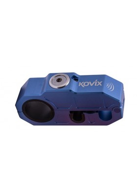 BLOCCO LEVA 10MM KOVIX ALARMED GRIP LOCK BLUE (KHL-B)