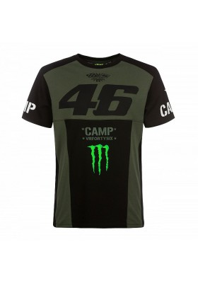 CAMTS359808 T-SHIRT VR46 MONSTER CAMP BLACK GREEN