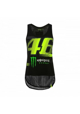 MOWTT359704 TANK TOP WOMAN VR46 MONSTER BLACK